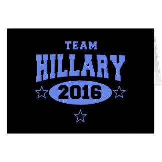 EQUIPO HILLARY Hillary Clinton 2016 Tarjeta De Felicitación