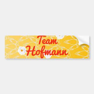 Equipo Hofmann Pegatina Para Auto