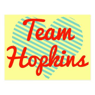 Equipo Hopkins Tarjeta Postal