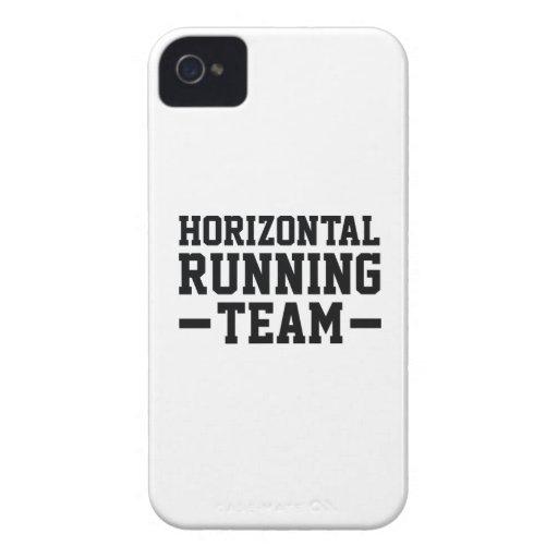 Equipo horizontal del funcionamiento iPhone 4 carcasas