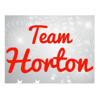 Equipo Horton Tarjeta Postal