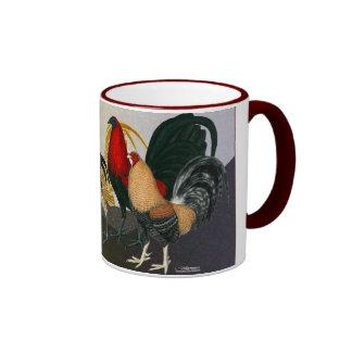 Equipo ideal del gallo taza a dos colores