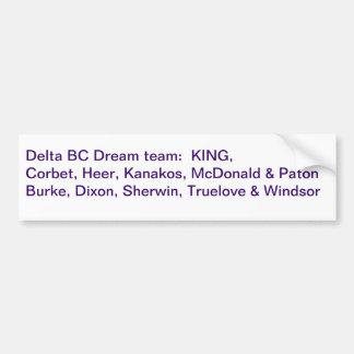 Equipo ideal púrpura 2011 del delta pegatina para auto