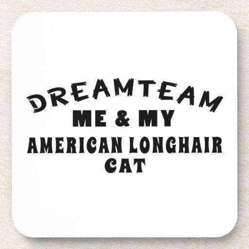 Equipo ideal yo y mi gato de pelo largo americano posavaso