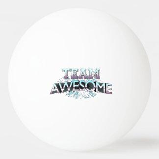 Equipo impresionante pelota de ping pong
