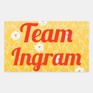 Equipo Ingram Pegatina Rectangular
