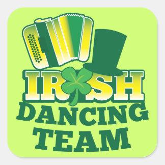 EQUIPO irlandés del baile Calcomania Cuadradas Personalizada