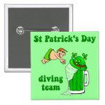 Equipo irlandés del salto pins