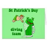 Equipo irlandés del salto tarjeton