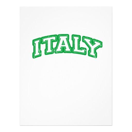 Equipo Italia Flyer Personalizado