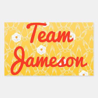 Equipo Jameson Pegatina Rectangular