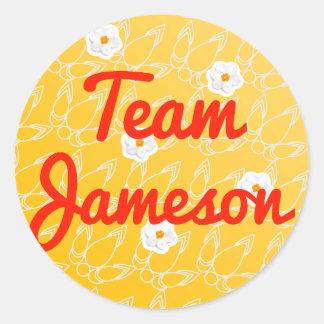 Equipo Jameson Pegatina Redonda