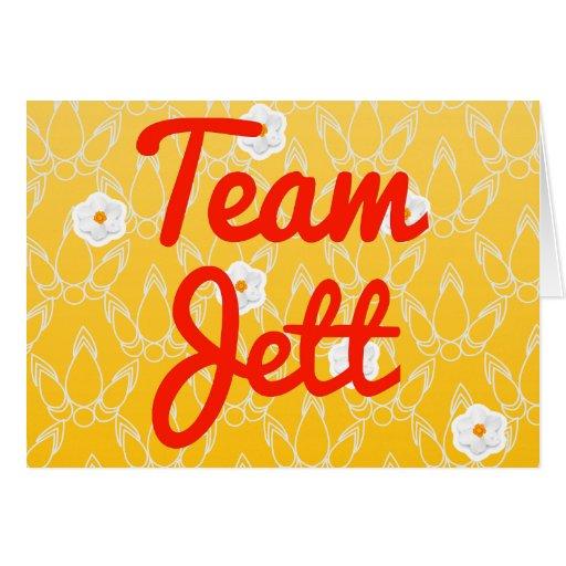 Equipo Jett Felicitacion