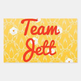 Equipo Jett Pegatina Rectangular
