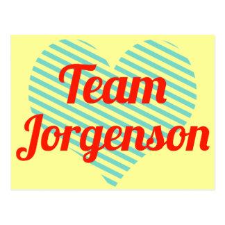 Equipo Jorgenson Tarjeta Postal