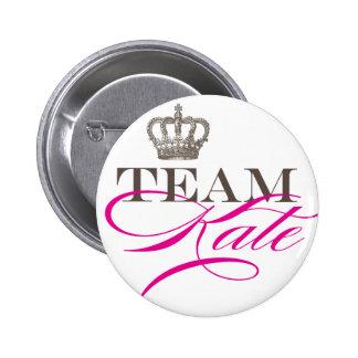 Equipo Kate el | el boda real Pin Redondo De 2 Pulgadas
