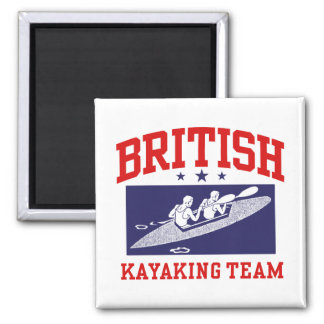 Equipo Kayaking británico Imán Cuadrado