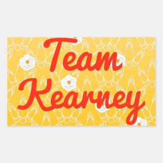 Equipo Kearney Rectangular Pegatinas