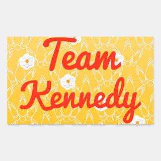 Equipo Kennedy Rectangular Pegatina