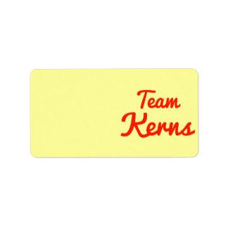 Equipo Kerns Etiquetas De Dirección