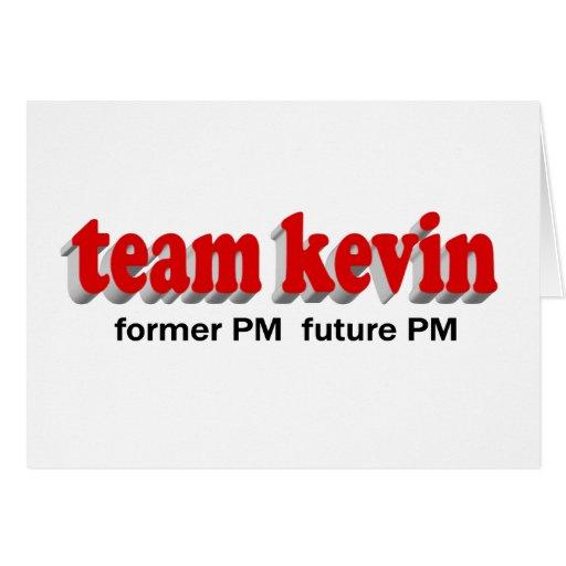 Equipo Kevin. P.M. anterior, futuro P.M. Felicitacion