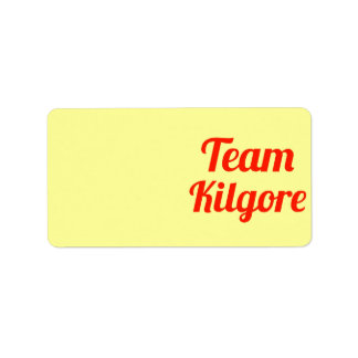 Equipo Kilgore Etiquetas De Dirección