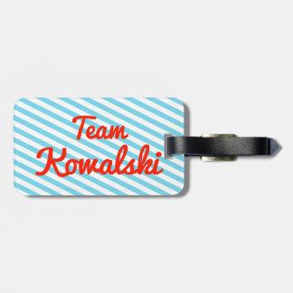 Equipo Kowalski Etiquetas Maleta