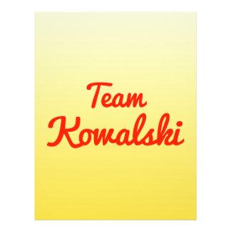 Equipo Kowalski Flyer A Todo Color