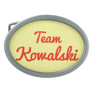 Equipo Kowalski Hebilla De Cinturón Oval