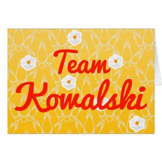 Equipo Kowalski Felicitación
