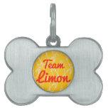 Equipo Limon Placa De Mascota