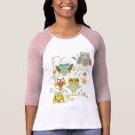 Equipo lindo de los búhos camiseta