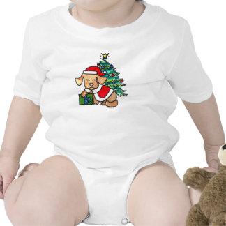 Equipo lindo del bebé del perro del navidad trajes de bebé