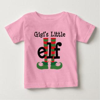 Equipo lindo del navidad del pequeño duende de playera de bebé