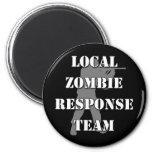 Equipo local de la respuesta del zombi iman de nevera