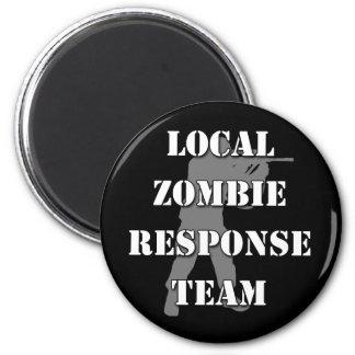 Equipo local de la respuesta del zombi imán redondo 5 cm