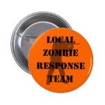 Equipo local de la respuesta del zombi pin
