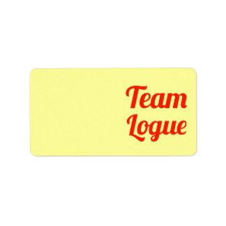 Equipo Logue Etiqueta De Dirección