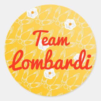 Equipo Lombardi Pegatina Redonda