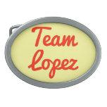 Equipo López Hebillas Cinturon Ovales