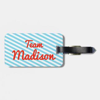 Equipo Madison Etiquetas Bolsas