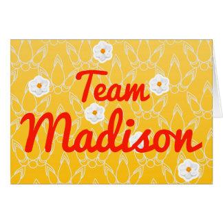 Equipo Madison Tarjeta