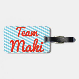 Equipo Maki Etiqueta De Maleta