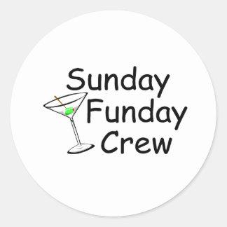 Equipo Martini de domingo Funday Pegatinas Redondas