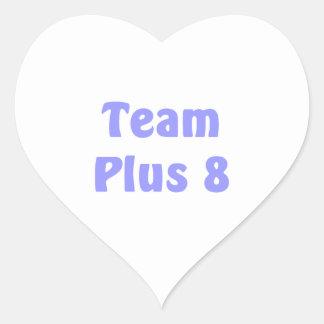 Equipo más 8 colcomanias de corazon personalizadas