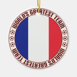 Equipo más grande Francés de la Guayana Adorno Redondo De Cerámica