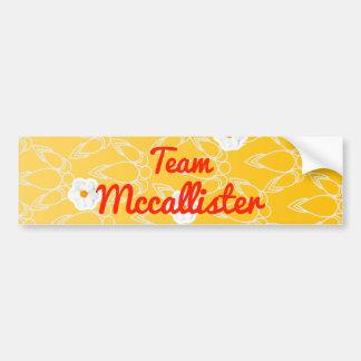 Equipo Mccallister Pegatina Para Auto