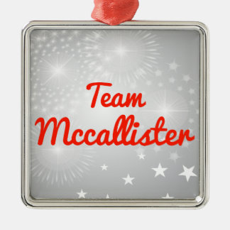 Equipo Mccallister Adorno Cuadrado Plateado
