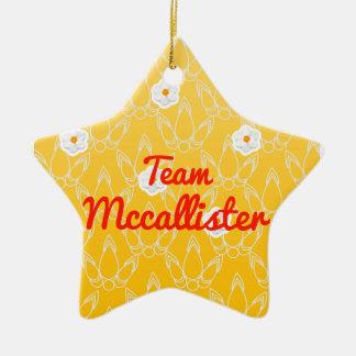 Equipo Mccallister Adorno De Cerámica En Forma De Estrella
