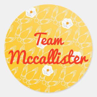 Equipo Mccallister Pegatina Redonda